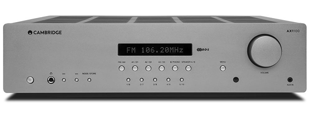 Cambridge audio AXR100 sztereo receiver es dac front